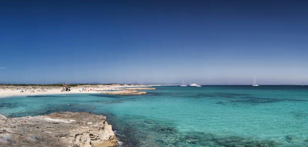 Playas paradisíacas en Formentera